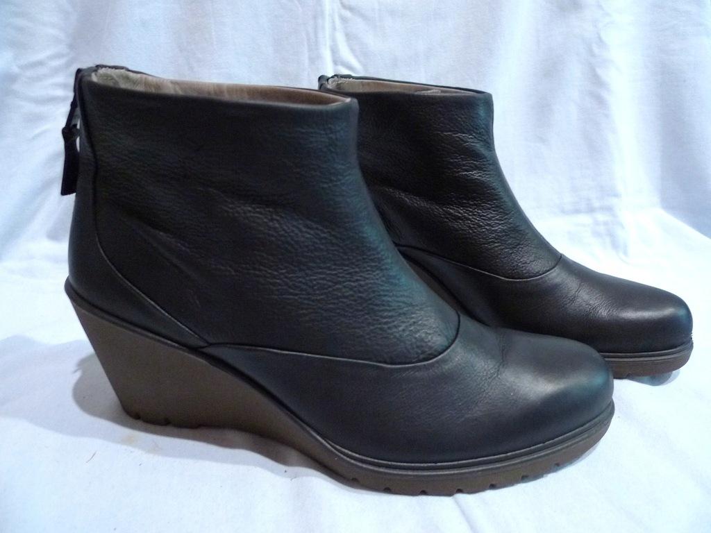 Buty skórzane ECCO , roz.40/26cm botki