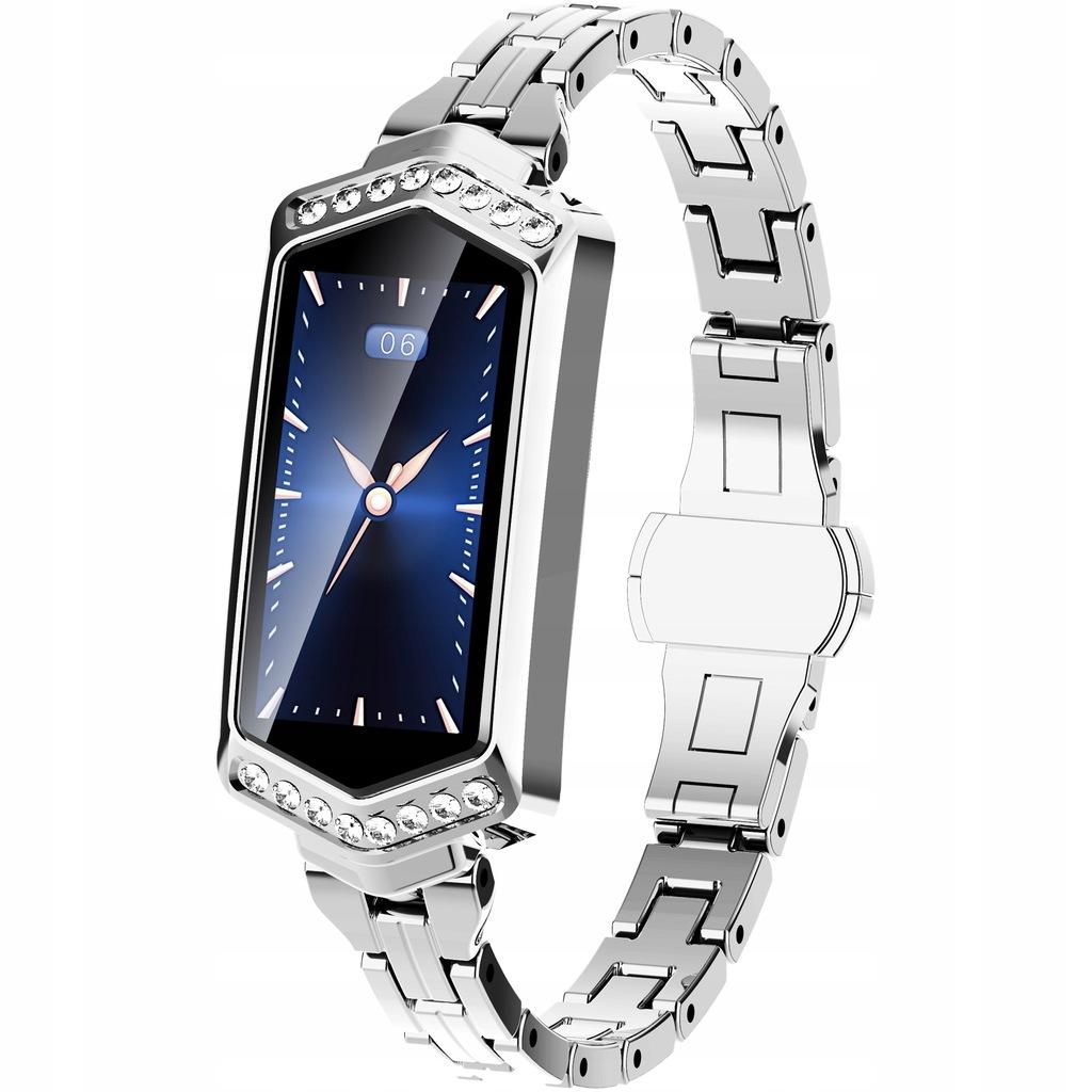 Styl Elegancja Smartwatch dla Kobiet Srebrny Cykle