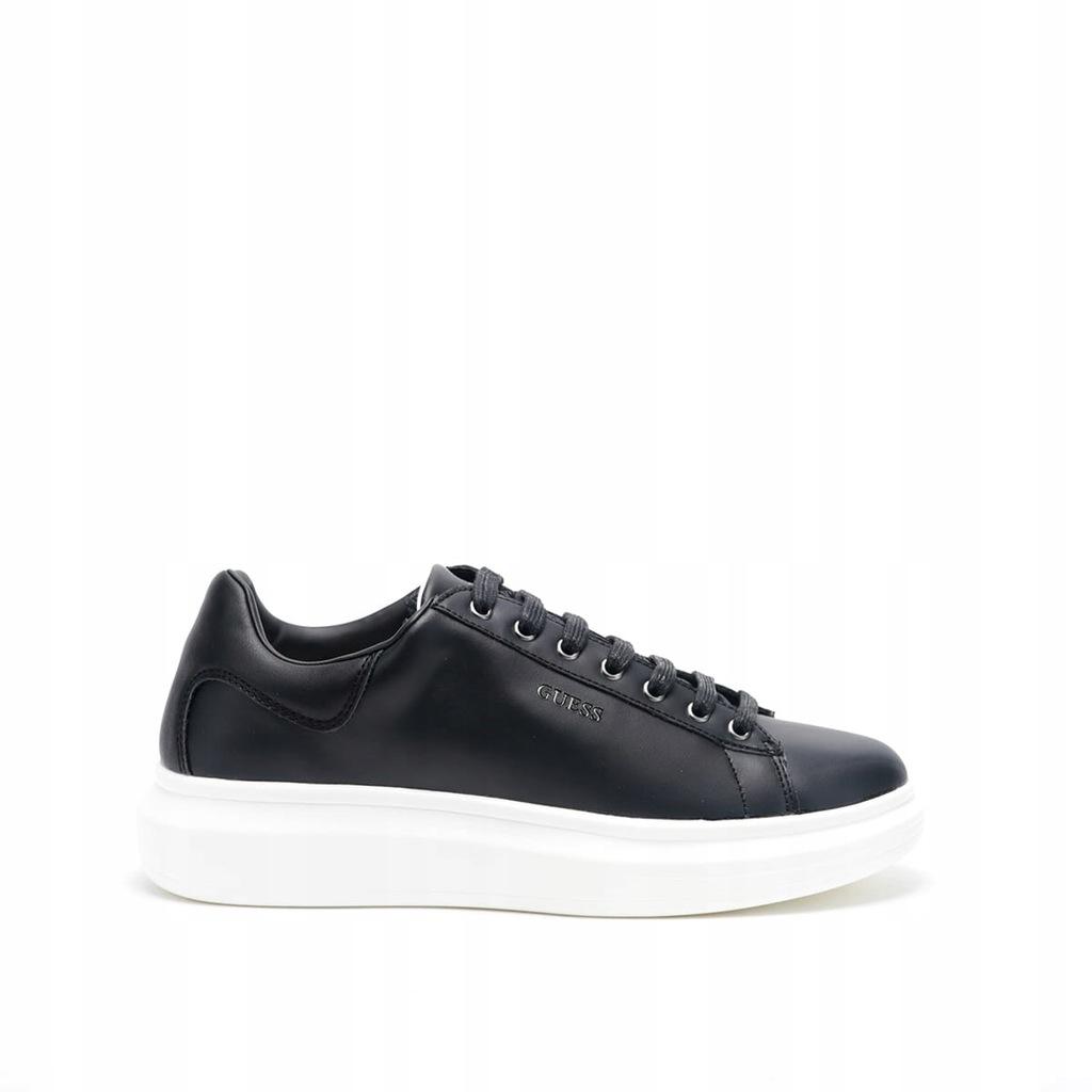 Męskie sneakersy czarne Guess HH1G3003 - 40