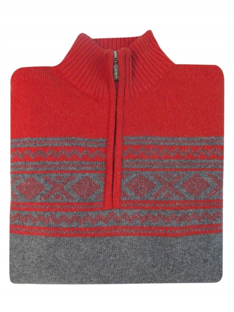 Sweter męski - półgolf rozpinany na zamek SW46 3XL