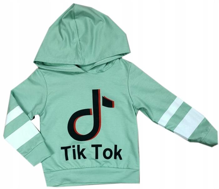 Bluza Tik Tok mięta 116/122 bluza dla dziewczynki