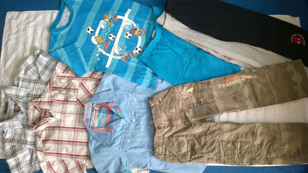 Paka ubrań zestw komplet chłopak 122-128 8 szt.