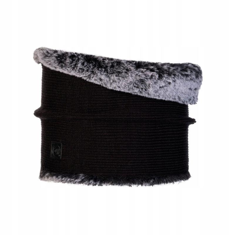 Czarny Komin Buff Knitted Neckwarmer Comfort Kesha