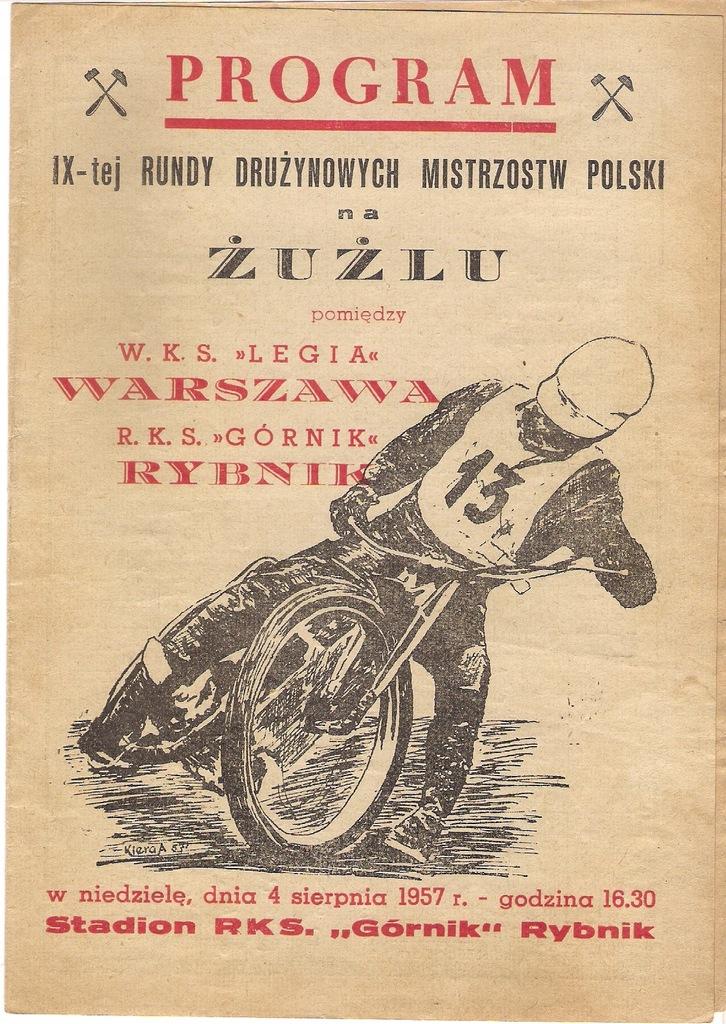 1957 WKS LEGIA Warszawa - RKS GÓRNIK Rybnik