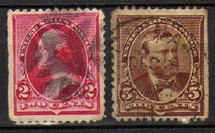 USA - nr 90,93 - 1894 r.- kasowane-krawędź arkusza