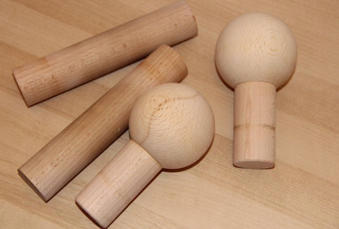 Kołki drewniane do kołkownic 30mm z kulą 100mm