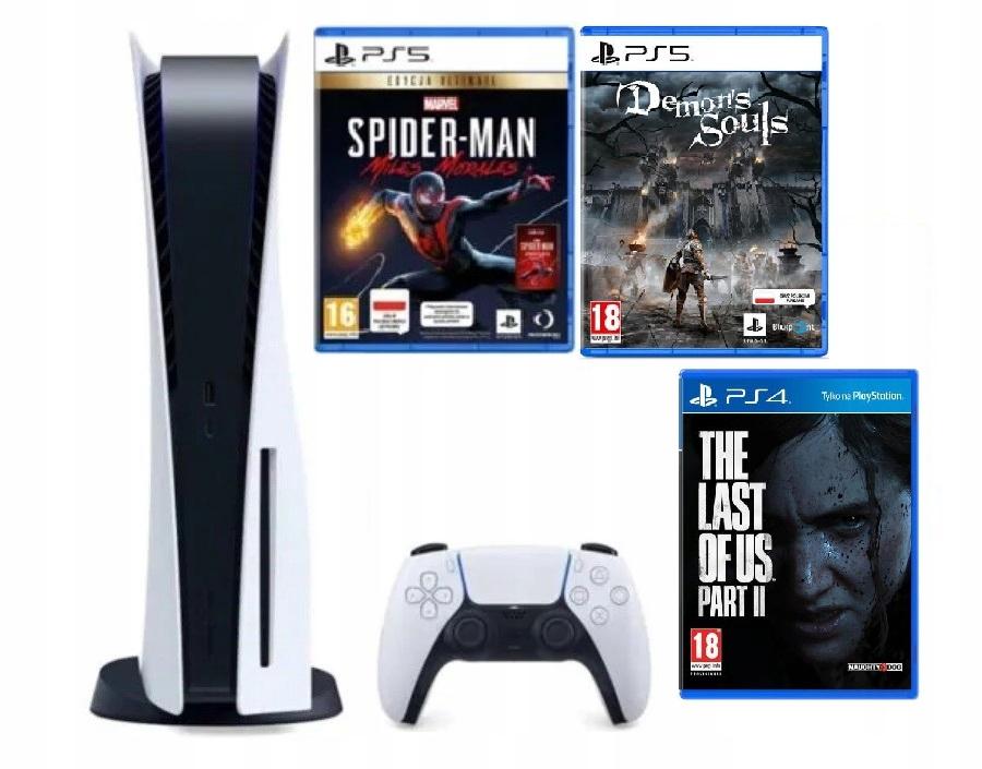 PlayStation 5 z napędem OD RĘKI + 3 gry exy Sony