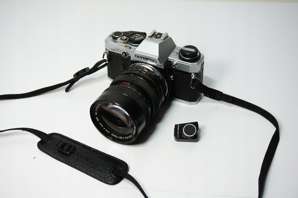 Aparat Fotograficzny Olympus OM10 + Soligor 35-70
