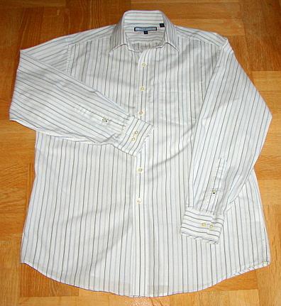 TOMMY HILFIGER koszula men ITHACA paski Blue L /41