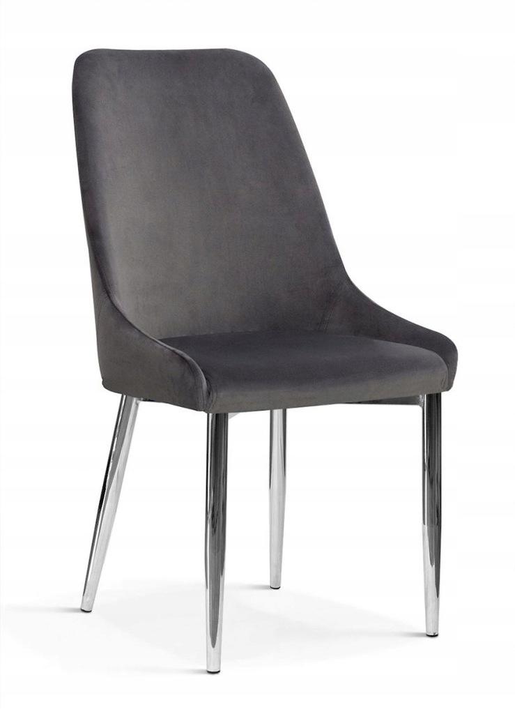 Krzesło OLIVIER M szary/ noga chrom/ BL14