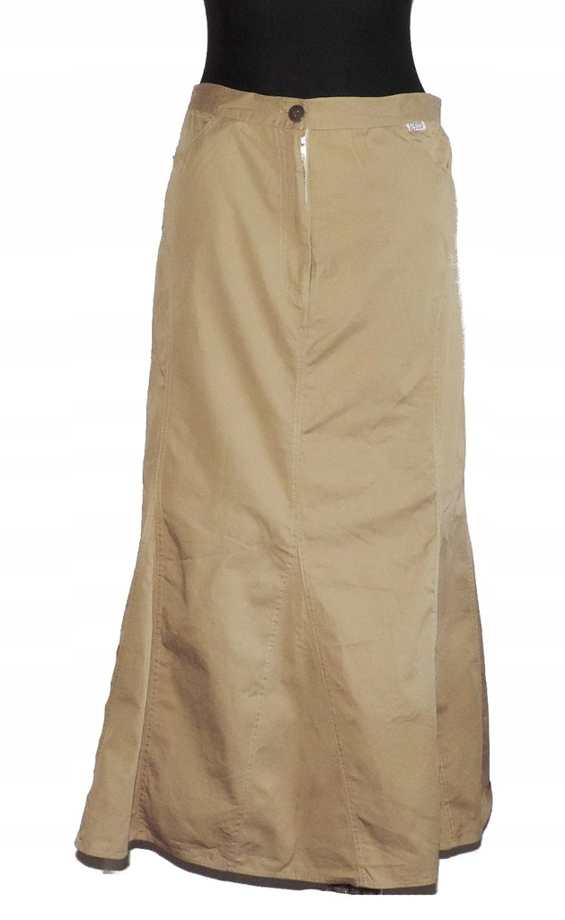 Spódnica brązowa L 40 szeroka bawełna