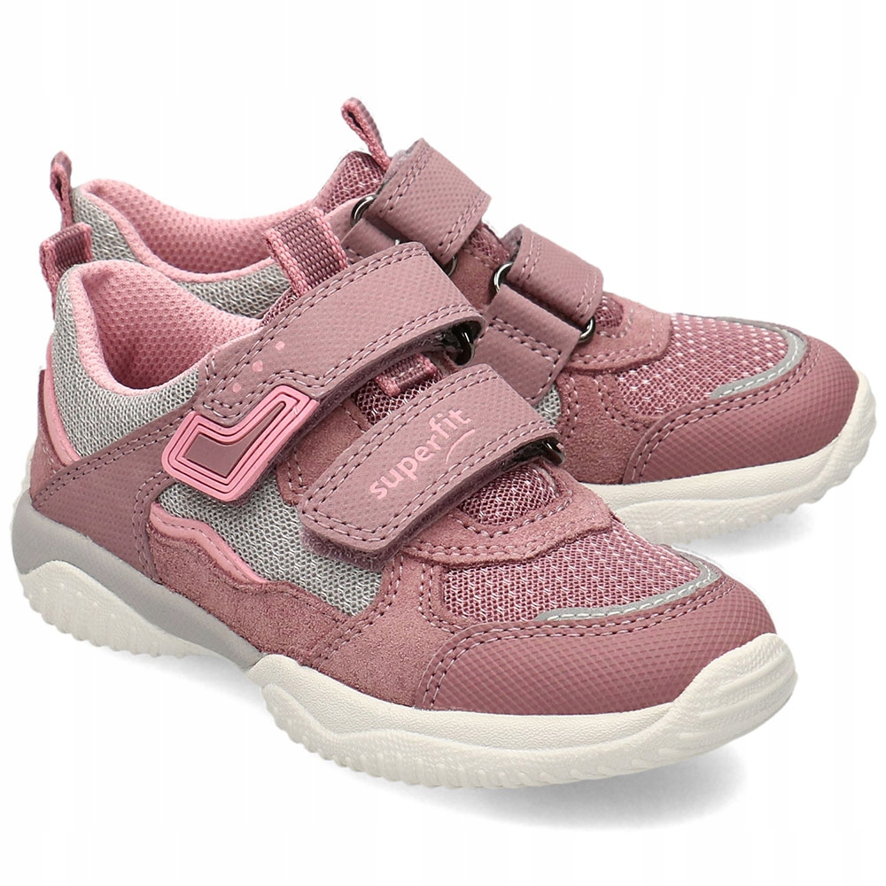 Superfit Wrzosowe Sneakersy Dziecięce Rzepy R.33
