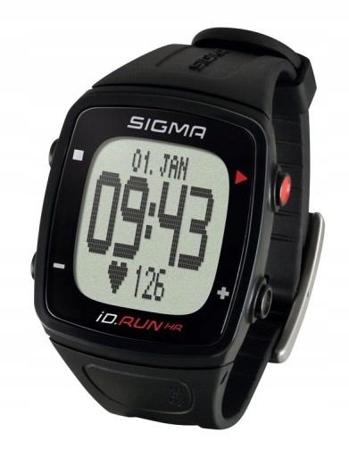 SIGMA iD.RUN HR zegarek GPS z pulsometrem czarny