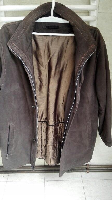Pierre Cardin skorzany płaszcz męski