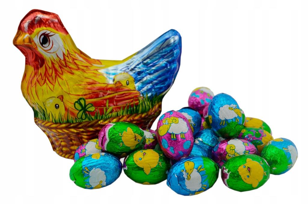 Zestaw Słodyczy Jajko Kura Kwoka Baron Wielkanoc