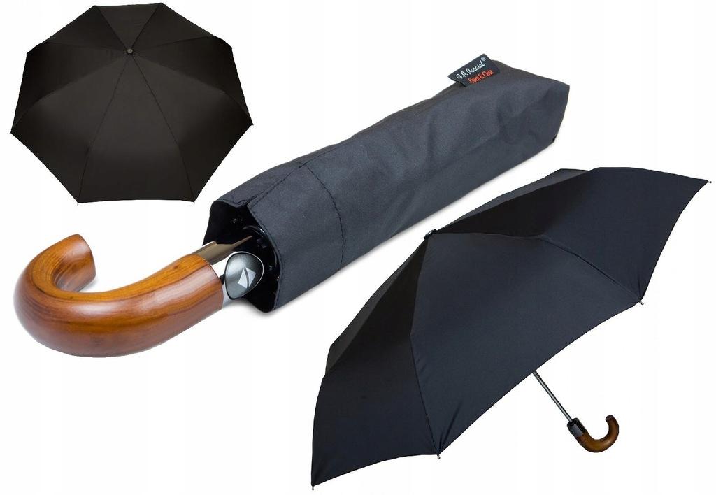 automatyczny POLSKI mocny parasol męski WŁÓKNO