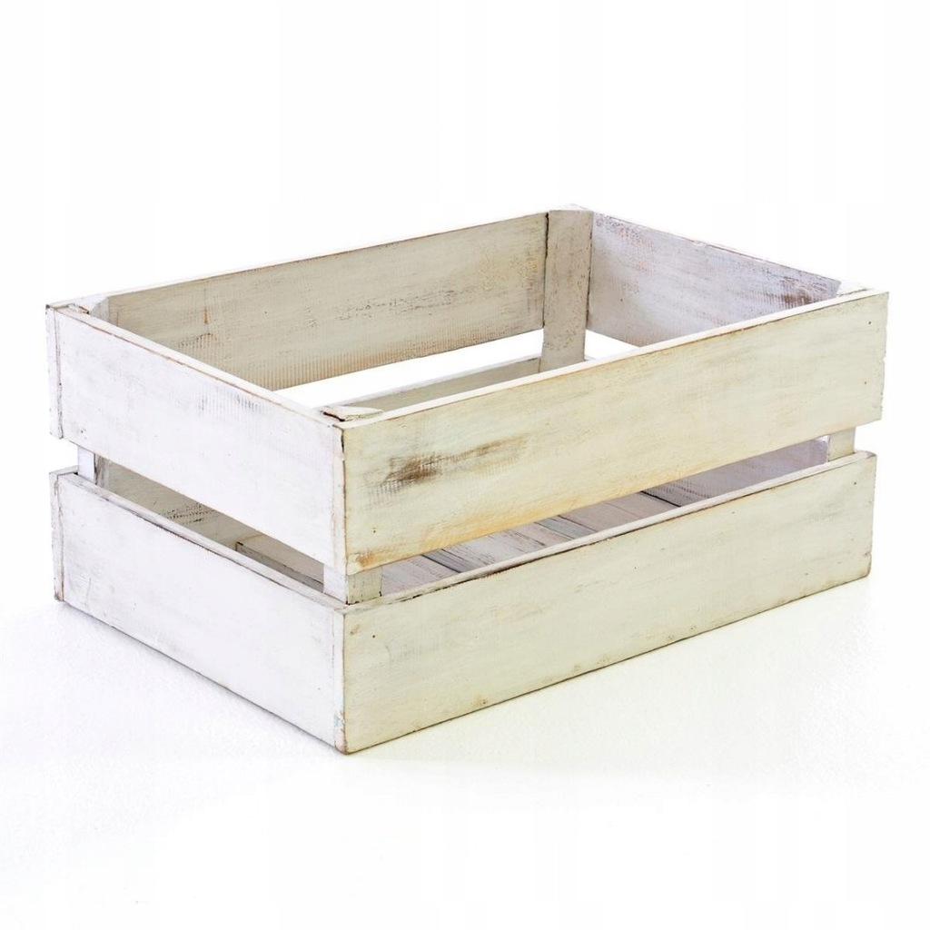 """Drewniane pudełko """"S"""" 42x23cm Pudełko n"""