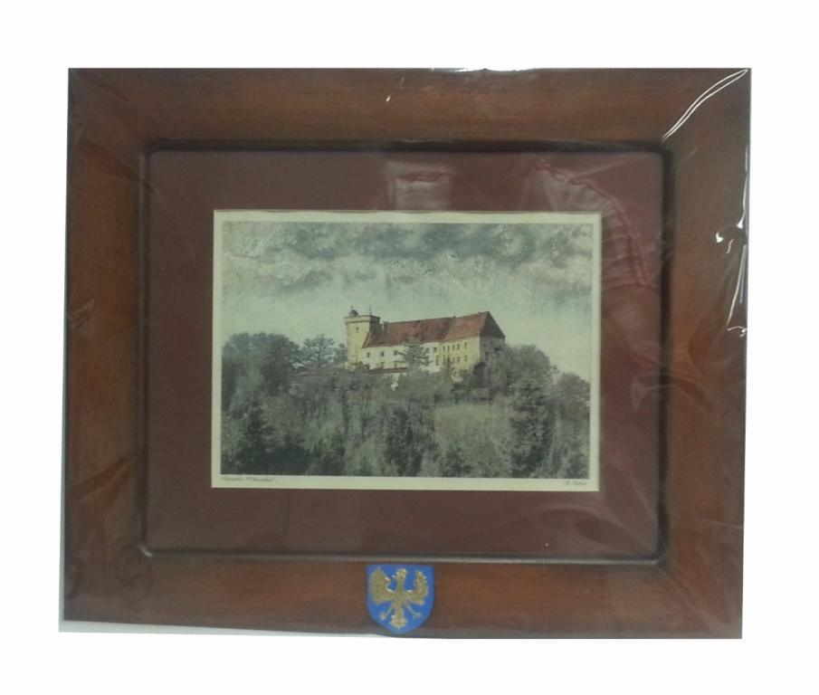 Obraz z widokiem zamku w Otmuchowie
