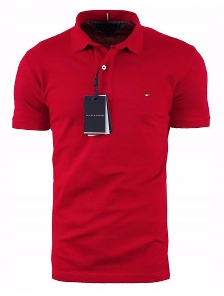 Koszulka męska polo Tommy Hilfiger TH czerwona XXL