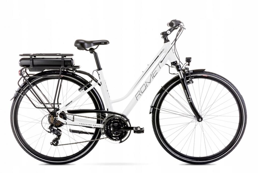 2028843- 18 M Rower elektryczny ROMET GAZELA biały