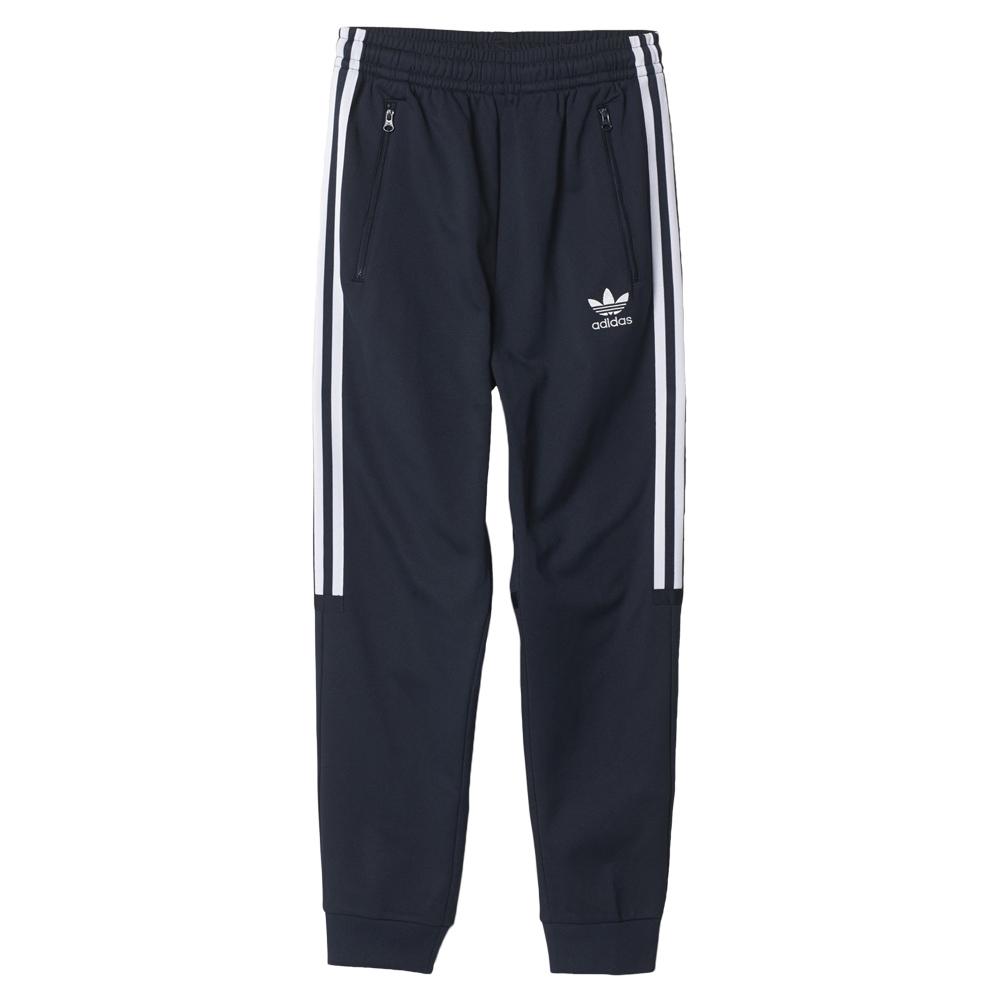 ADIDAS Originals – Spodnie dresowe z paskami z logo – Ciemnoniebieski