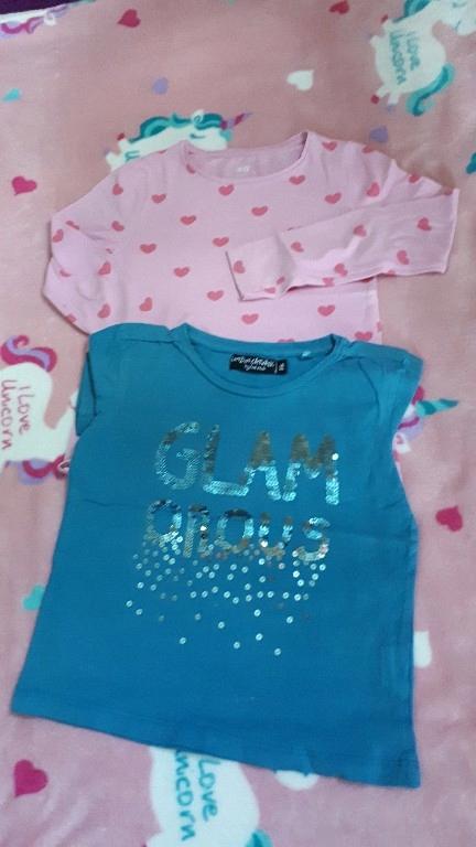 2 bluzki dla dziewczynki 116 Cool Club H&M