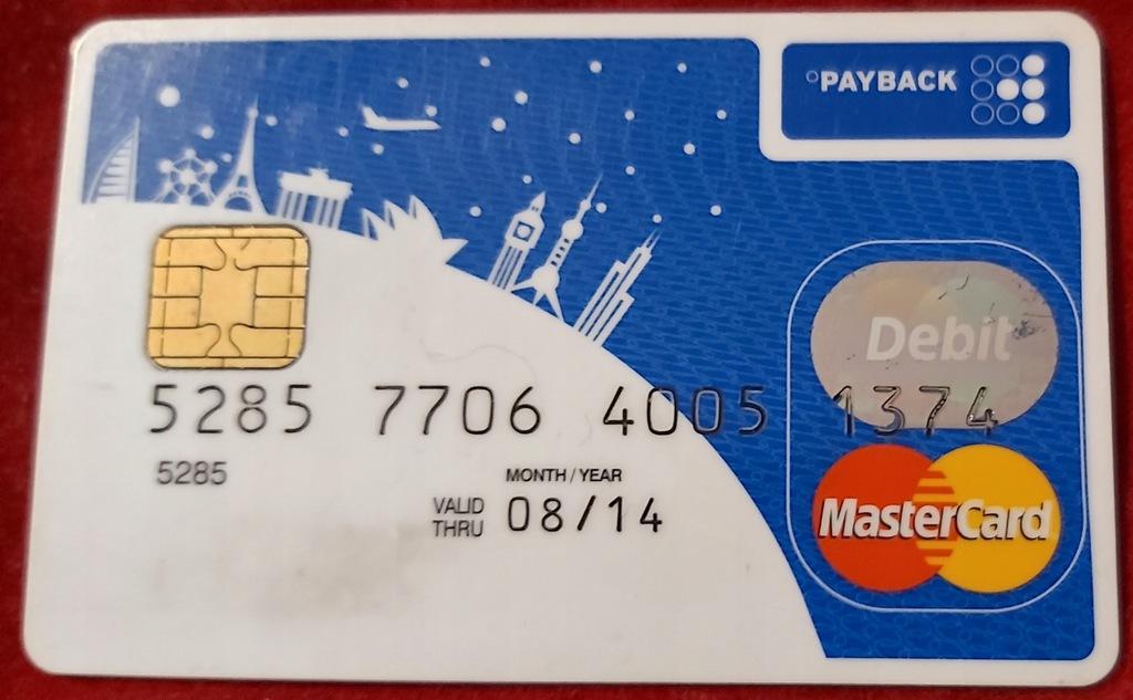 Karta MasterCard Bank Zachodni WBK PAYBACK 0602