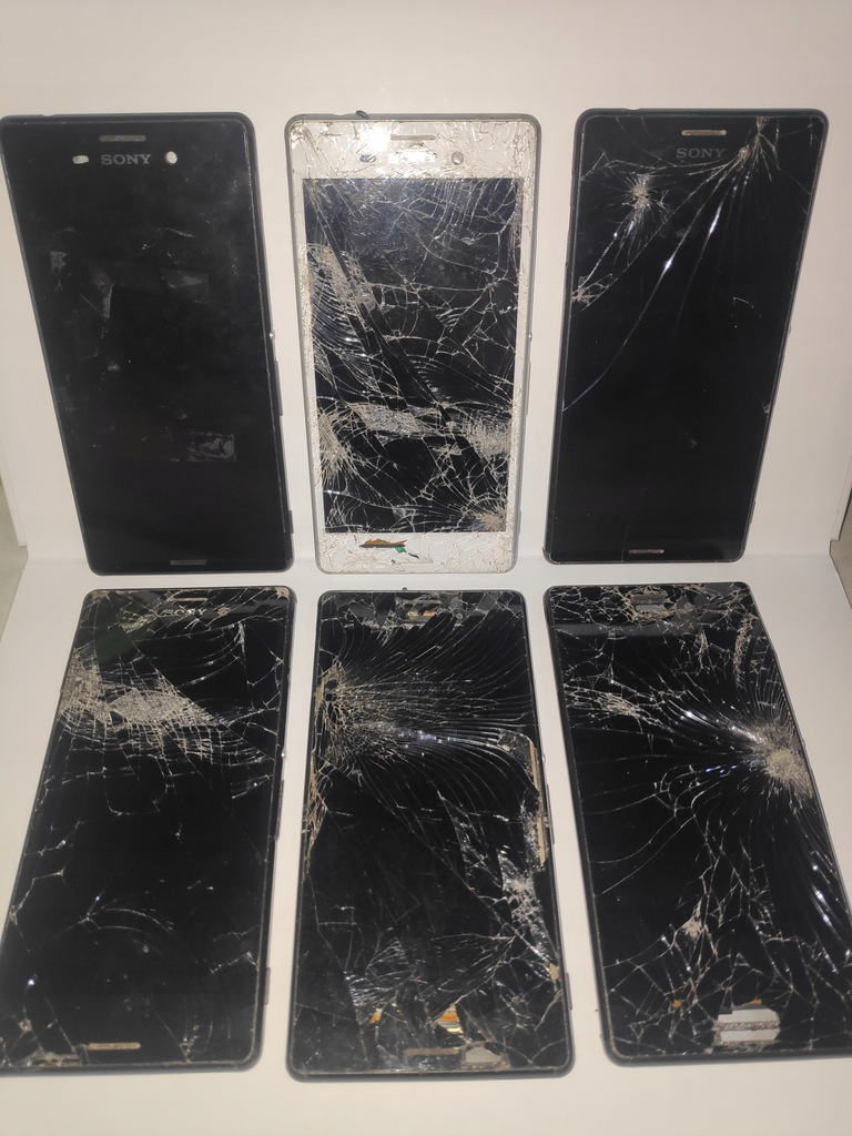 6x Sony Xperia Z1 uszkodzone + gratis