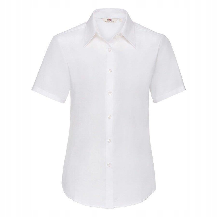 DAMSKA koszula FRUIT krótki rękaw OXFORD biała 3XL