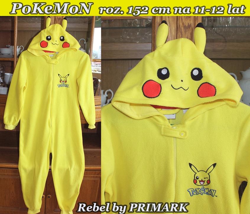 PoKeMoN -Jednoczęściowa piżamka Pikachu na11-13lat