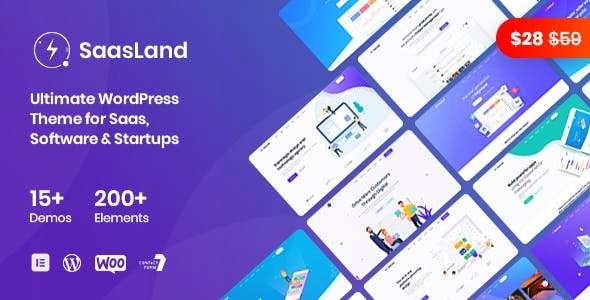 SaasLand - MultiPurpose WordPress Theme for Saas