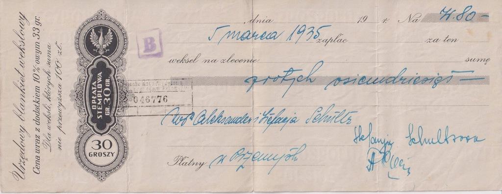 PRZEMYŚL WEKSEL 1935