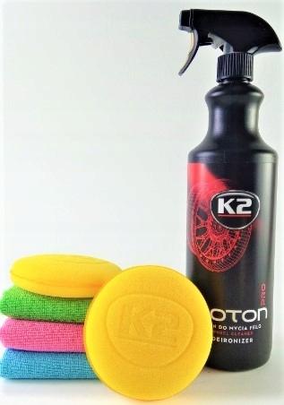 K2 ROTON PRO KRWAWA FELGA żel czyszczenia ZESTAW !
