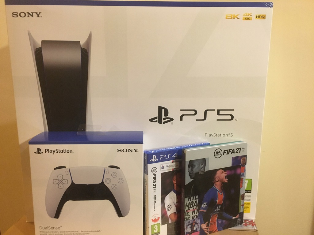 PlayStation 5 dodatkowy pad FIFA 21 steelbook