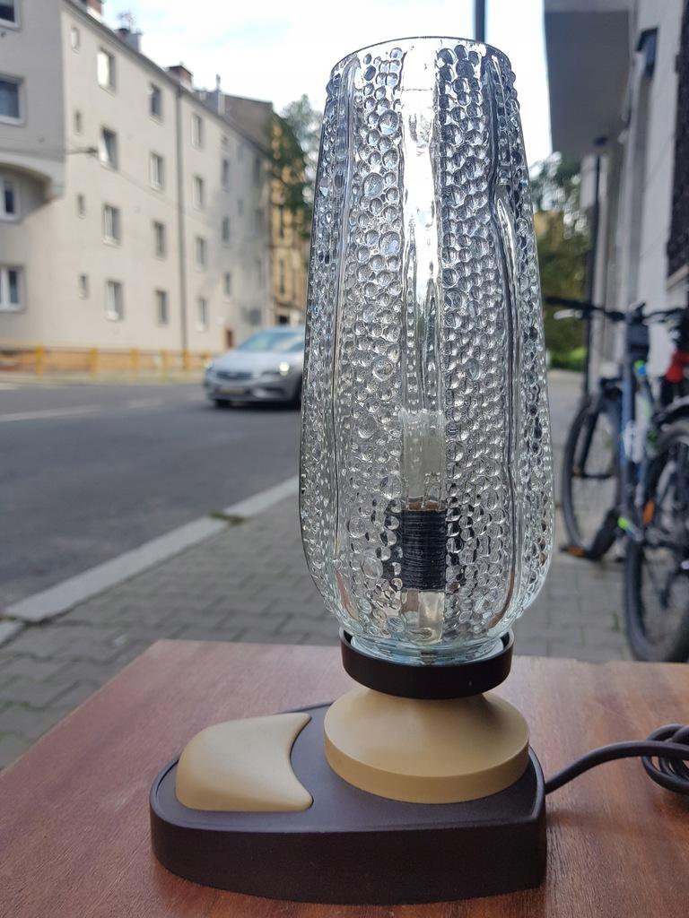 Stara lampka vintage PRL perełki krople