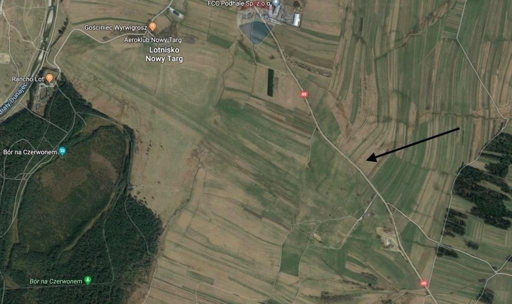 Działka, Nowy Targ, Nowotarski (pow.), 1045 m²