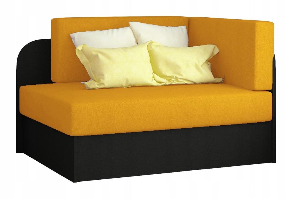 Kanapa łóżko ROSA rozkładane wersalka żółte RIBES