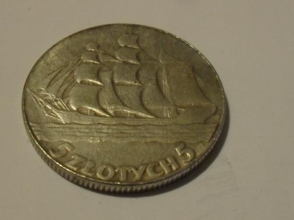 5 zł statek 1936 r.