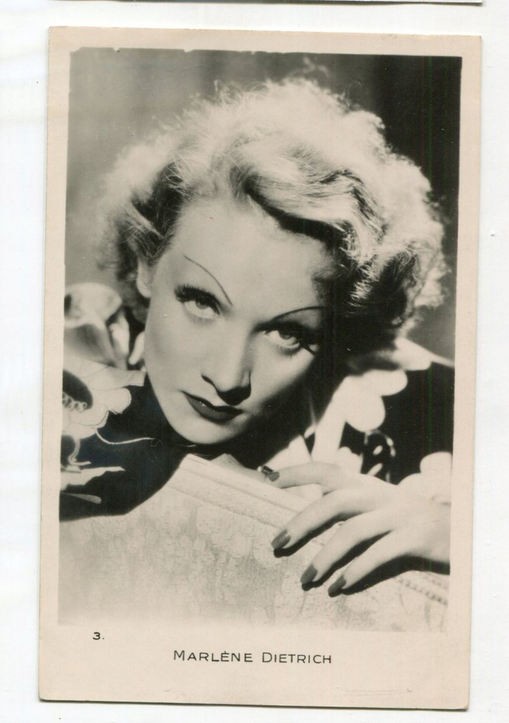 Marlene Dietrich Kino Film Aktorka Foto Pocztówka