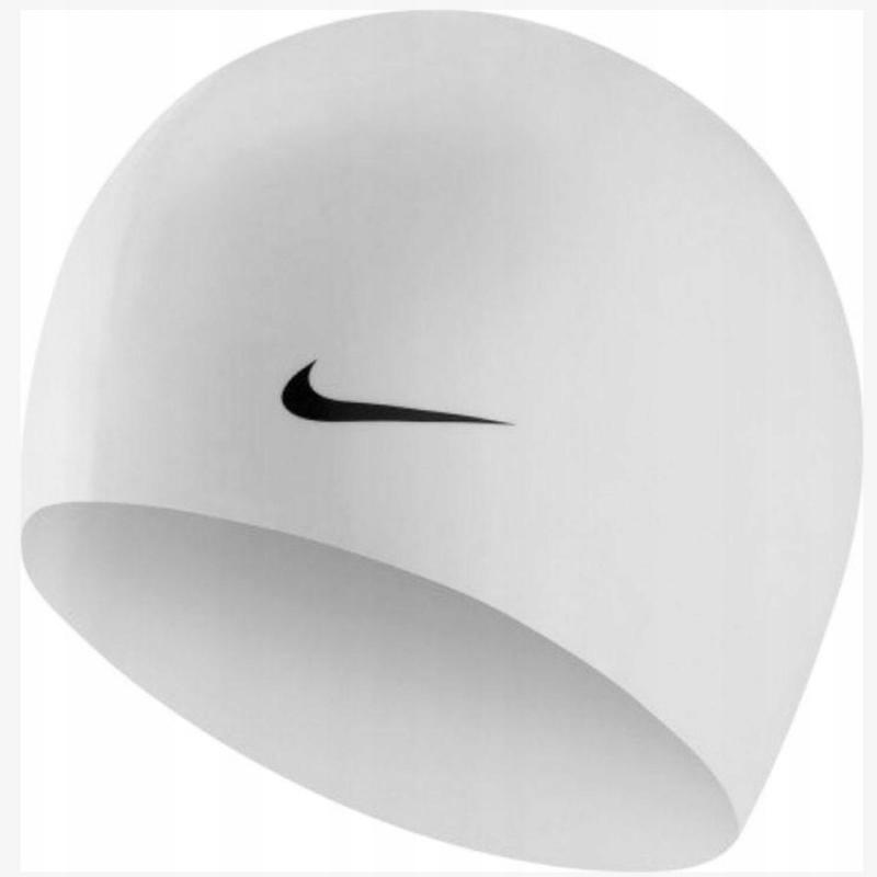 Czepek silikonowy Nike 93060 100 senior biały