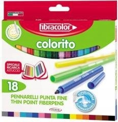Pisaki Colorito 2,6mm 18 kol. FIBRACOLOR PREZENT