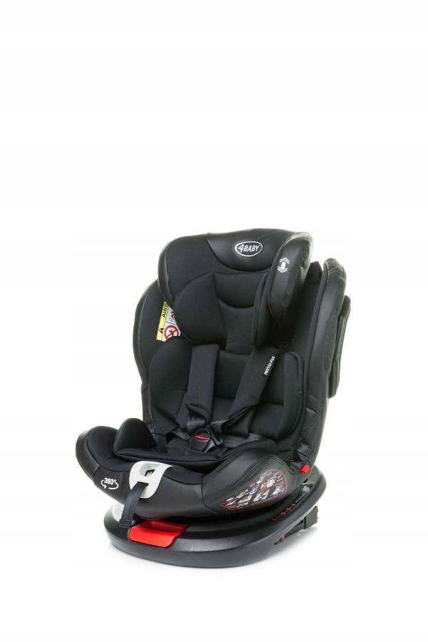 4 BABY Fotelik samochodowy ROTO-FIX 0-36kg BLACK