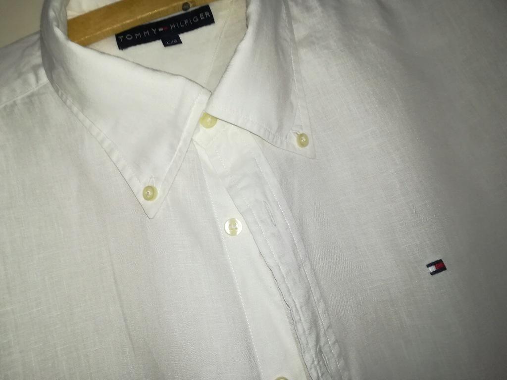 Tommy Hilfiger lniana koszula Xl