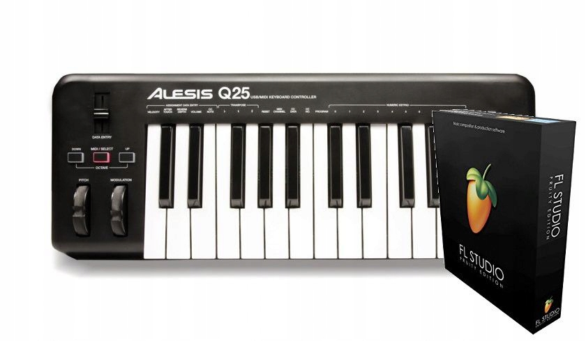 Alesis Q25 + FL Studio 20 Fruity Edition BOX
