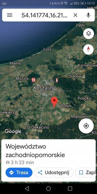 działka 3001 m Koszalin.
