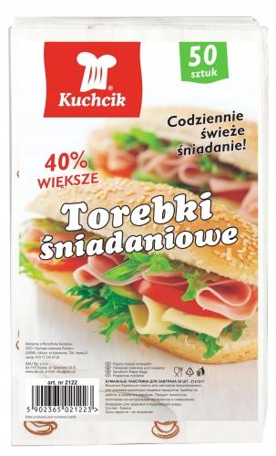 Kuchcik Torebki Śniadaniowe Papierowe 50 Sztuk