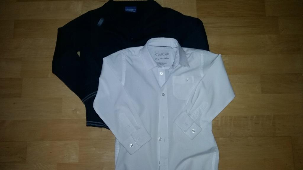 Zestaw COOLCLUB i Cocodrillo sweter i koszula 110