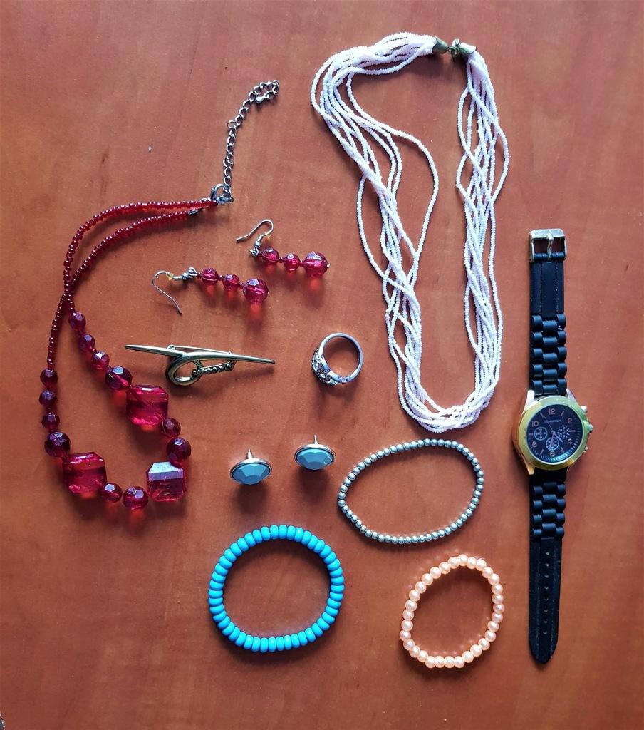Zegarek kolia pierścionek bransoleta kolczyki
