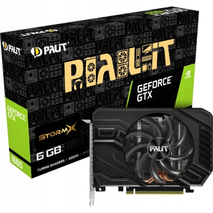 Palit GeForce GTX 1660 StormX 6GB HDMI/DVI-D/DP