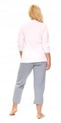 Jasnoróżowa piżama PLUS SIZE ze ściągaczami 3XL